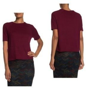 GO COUTURE Burgundy Knit Pullover Sweater Lg NWT